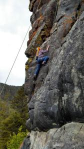 Climbing in Hyalite
