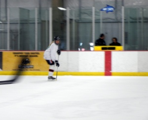 Action shot.  Blurry because I'm skating so fast.