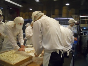 Dumplings being made at Din Tai Fung