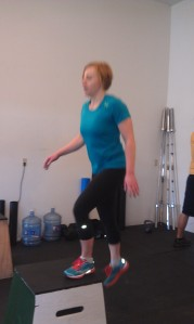 Heather doing some step ups