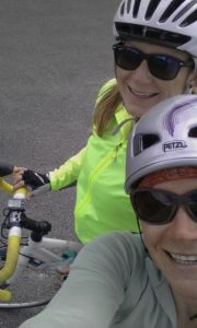 Road biking with Gretchen