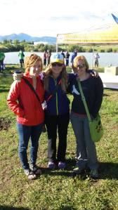 Pre-race with Elizabeth and Heather