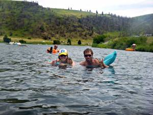 Scott and I floating down the Madison
