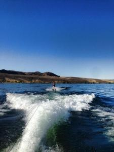 water skiing at the Gorge
