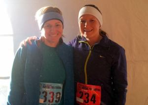 Heather and I before the race