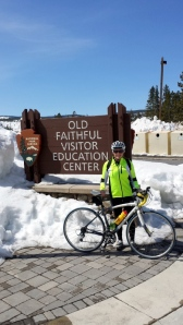 Made it to Old Faithful by bike